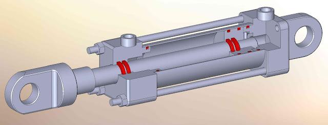 Hydraulic cylinder speed calculation