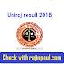 Rajasthan University BA BSC BED Part I II III Uniraj Result 2018
