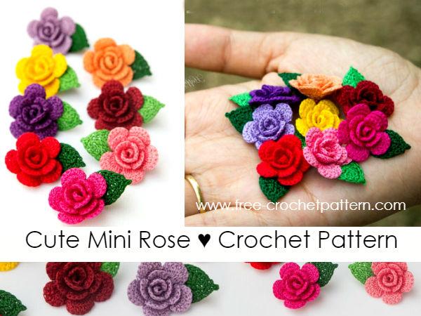 Cute Mini Rose Crochet Pattern Free Crochet Patterns