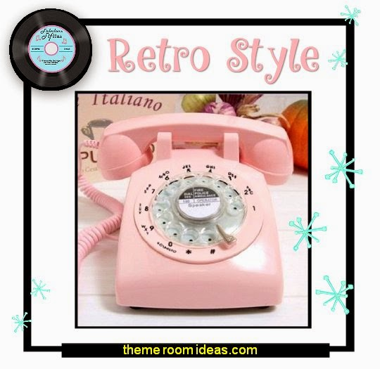 50s telephone - Pink Retro Old Fashioned Rotary Dial Telephone