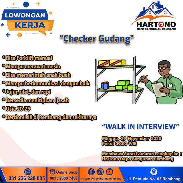 Lowongan Kerja Desain, Admin, SPG, Gudang Hartono Depo Bangunan Rembang