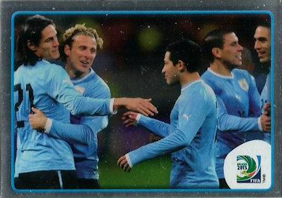 Panini 161 Spieler Team Uruguay Confed Cup 2013 Brasilien