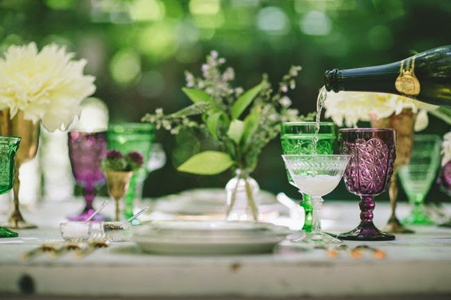 woodland wedding table setting