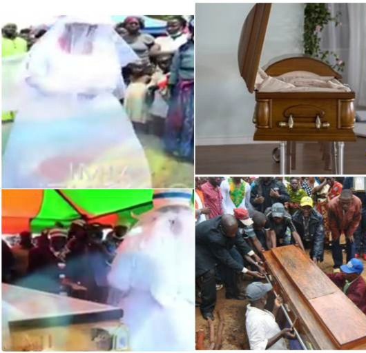 Woman marries her late husband's corpse so they will remain one again (video)