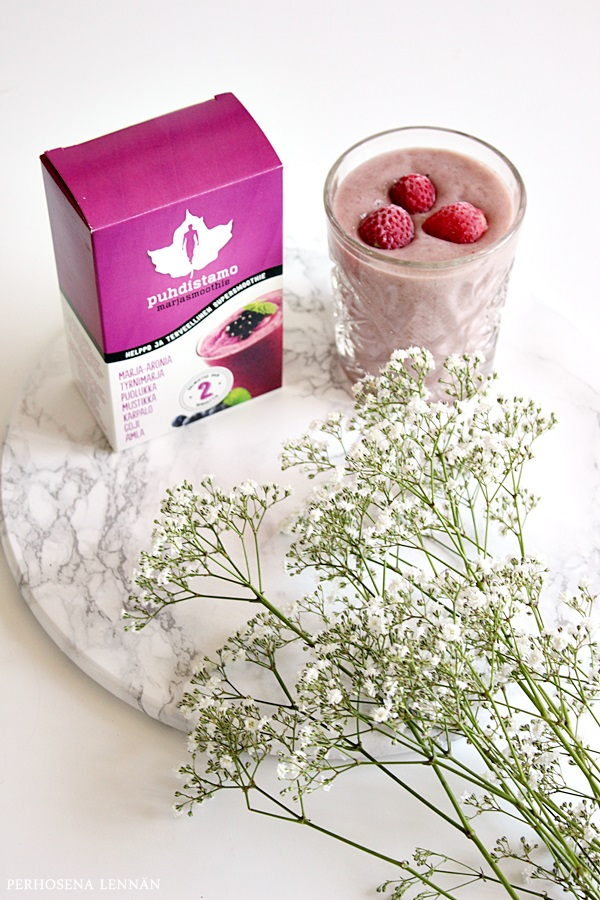 puhdistamo rawfood marjasmoothie supersmoothie berry