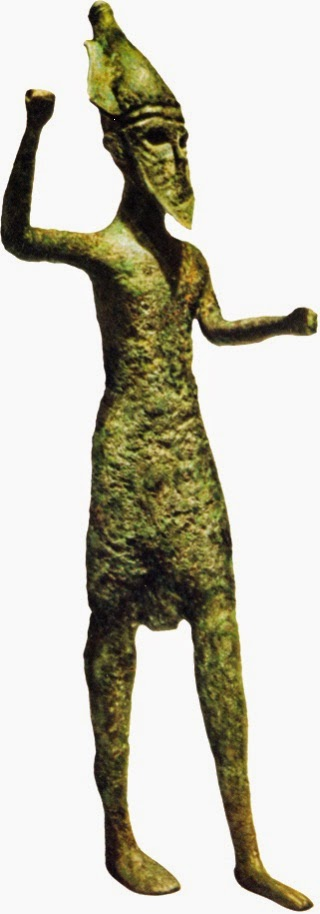 Bronze statue of Melqart, who was worshiped by the Phoenicians