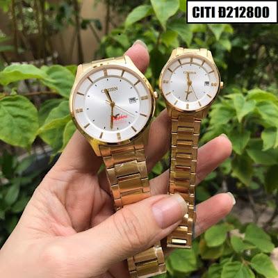 Đồng hồ cặp đôi màu vàng Citizen Citi Đ212800