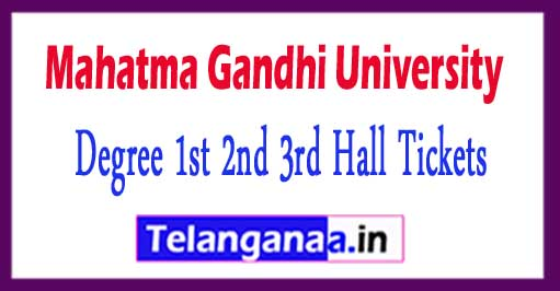 MGU Degree 1st 2nd 3rd Hall Tickets 2018