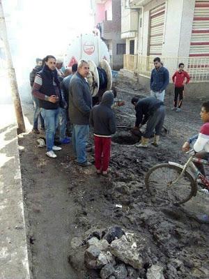 رئيس مدينه قلين ونوابة يتابعوا أعمال الوحده المحلية بقرية ميت الديبه