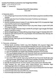 Syarat Calon Perserta (PPGJ) Pendidikan Profesi Guru dalam Jabatan 2018