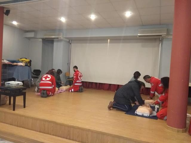 Για τις πρώτες βοήθειες από το τμήμα του ερυθρού Σταύρου Ναυπλίου έμαθαν στο Λυγουριό