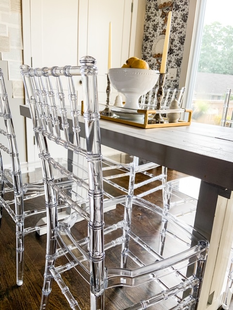 dining room chairs see through