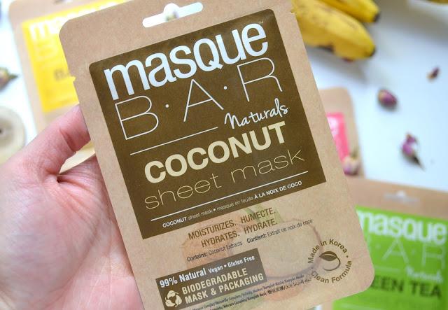 MasqueBAR Naturals Coconut Sheet Mask
