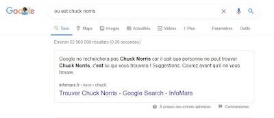 Google Easter Egg ou est chuck norris