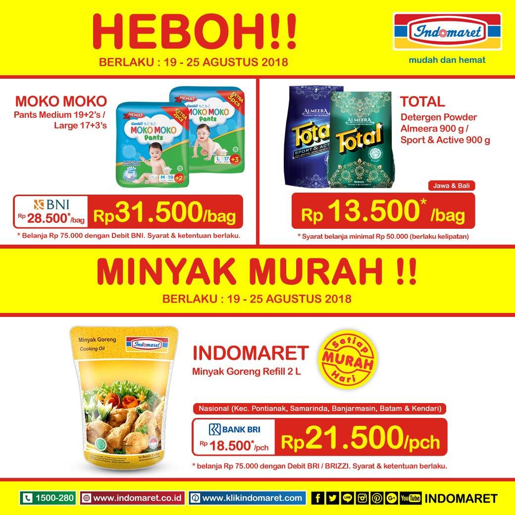 Indomaret - Katalog Promo Heboh Periode 19 - 25 Sept 2018