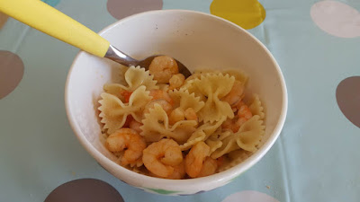 Easy one bowl shrimp farfalle
