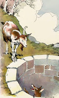 Story of The cunning fox and the foolish goat-story