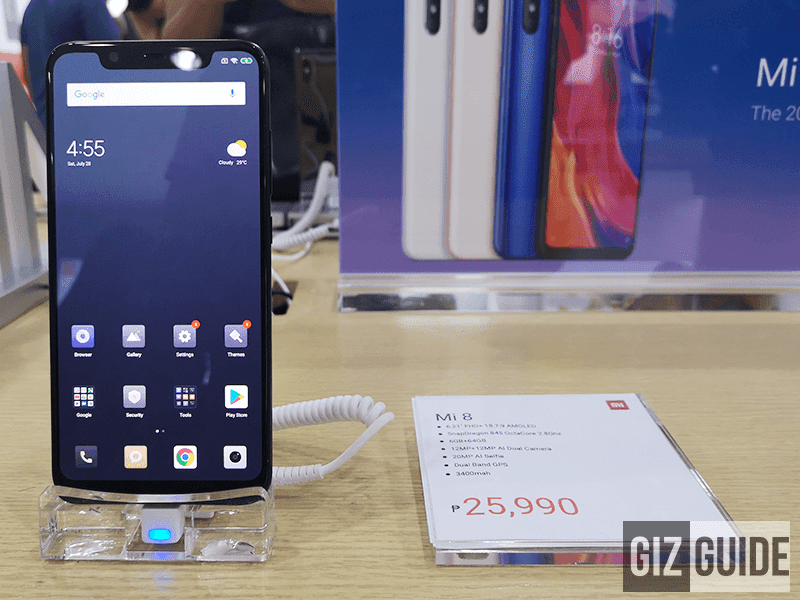 Xiaomi Mi 8 now available in the Philippines, SD845 with a starting price of PHP 25,990!