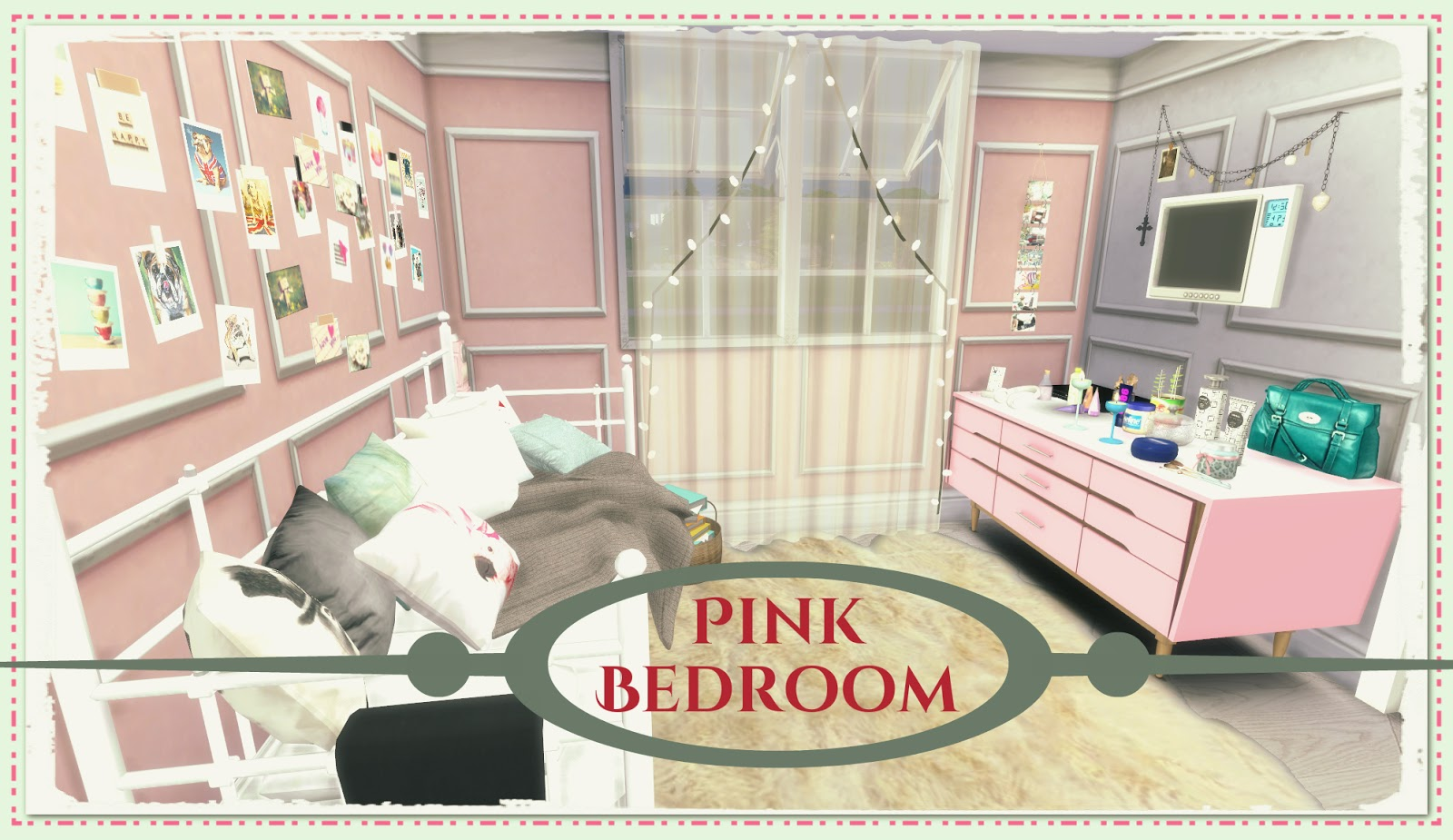 sims 4 pink bedroom dinha