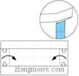 Bước 9: Mở cạnh giấy ra.