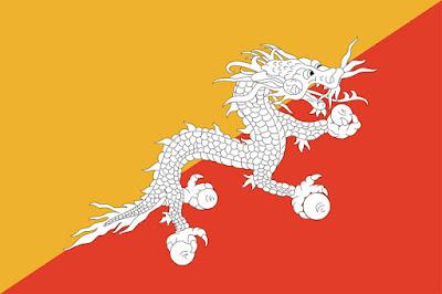 Gambar Bendera Negara Bhutan