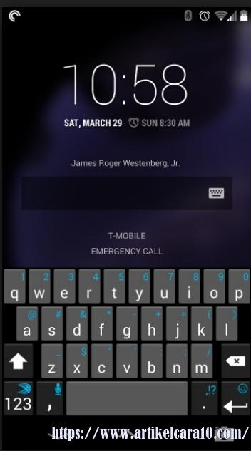cara hack loock screen android