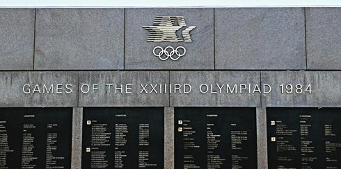 los angeles memorial coliseum 1984 olympics