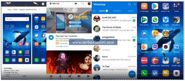 Tema Xiaomi Keren Terbaik Tembus Semua Aplikasi