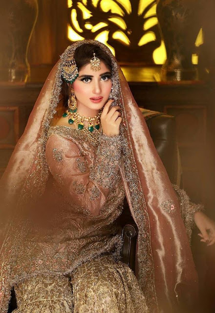 Click from recent beautiful Bridal Shoot of Sajal Ali .