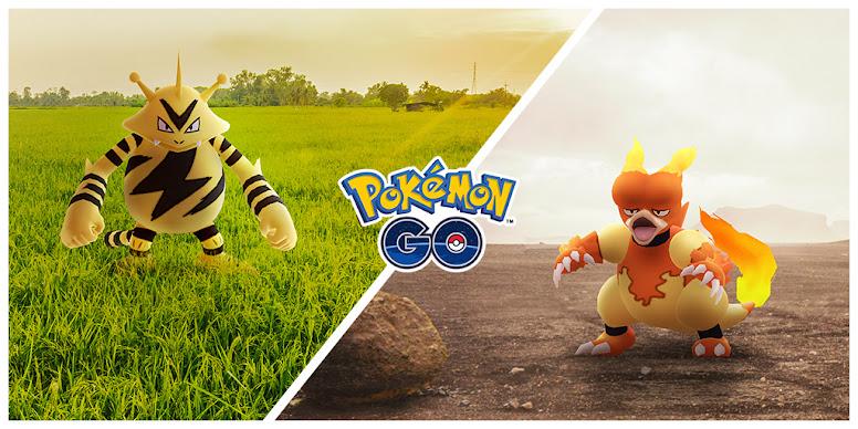 Pokémon GO Dia Comunitário Magmar e Electabuzz