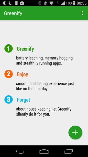 Greenify - Gere da melhor maneira o consumo da bateria do teu smartphone