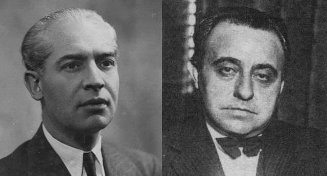 Bernardo Giner de los Ríos y Félix Gordón Ordás