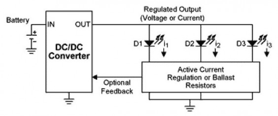 Powering White LEDs in Parallel Connections with Boost Converter