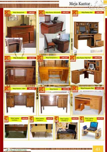 Meja kantor kayu jati klender