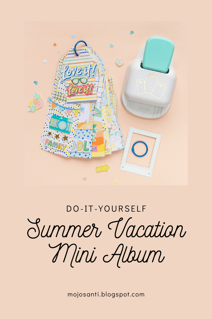 Check out my pinterest pin for summer mini album with craft supplies from American Crafts and WRMK