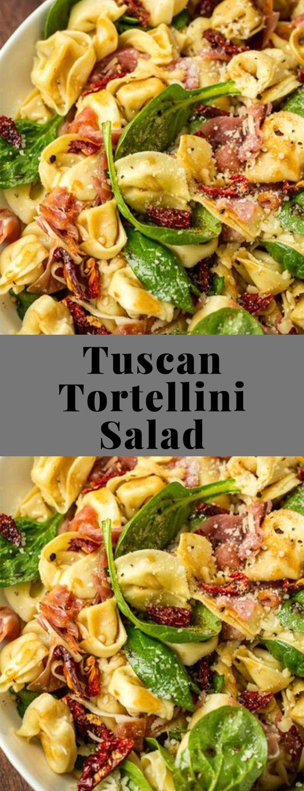 Tuscan Tortellini Salad #salad #pastasalad #summer
