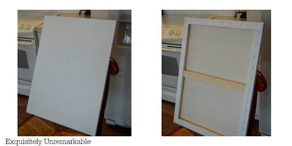 Prestretched Canvas front and back