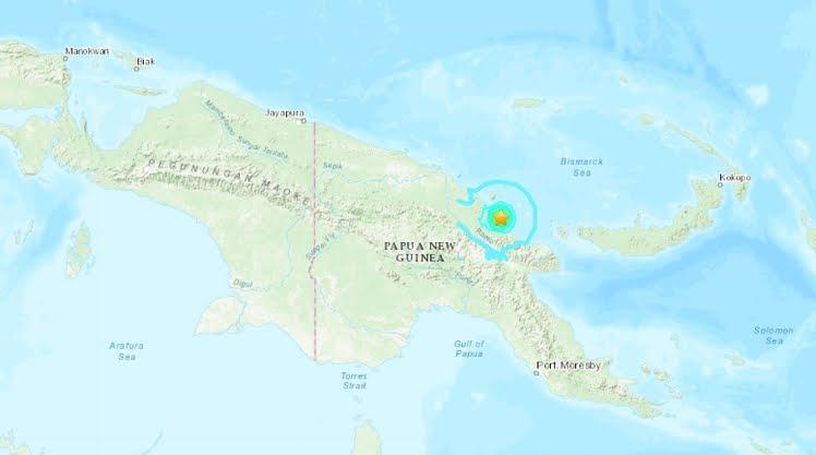 Terremoto Oggi Papua Nuova Guinea: Forte Sisma M5,9 senza allerta Tsunami.