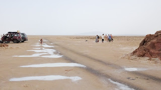 Salty area and very hot in Danakil