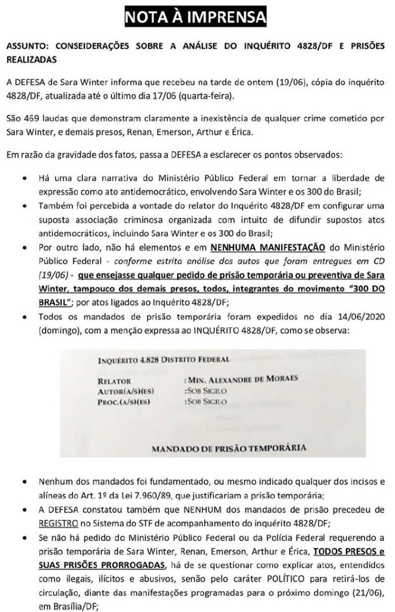 BOMBA!! Advogados provam a trama do STF, MPF e até da OAB para prisões ilegais de apoiadores de Bolsonaro