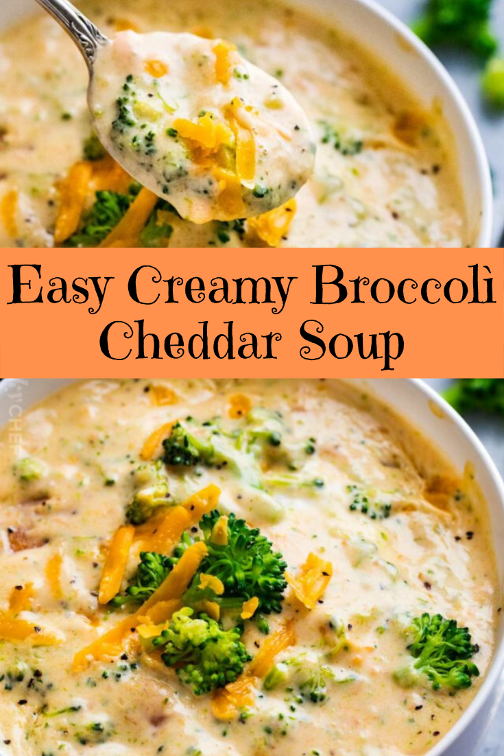 Easy Creamy Broccolì Cheddar Soup
