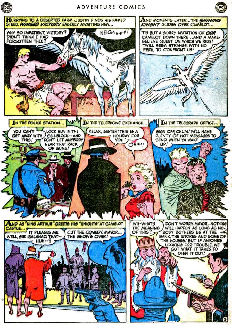 Frank Frazetta golden age 1950s dc shining knight comic book page art - Adventure Comics #157