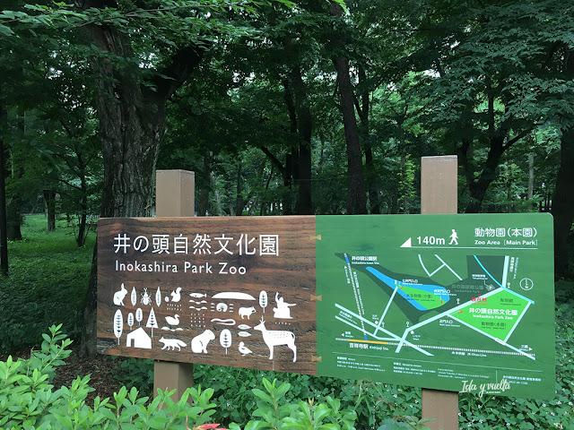 Indicaciones de Inokashira Park