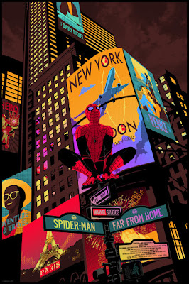 New York Comic Con 2019 Exclusive Spider-Man: Far from Home Movie Poster Foil Edition Screen Print by Raid71 x Grey Matter Art x Marvel