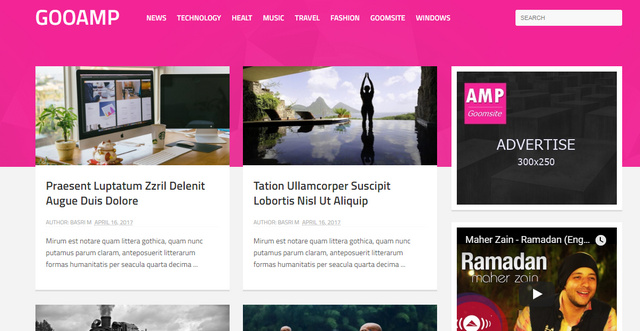 GOO AMP Blogger Templates