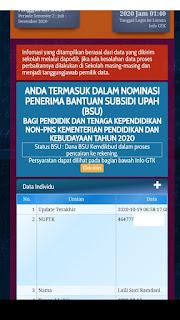 notifikasi penerima BSU