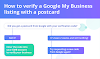 How to verify a Google My Business listing with a postcard #infographic