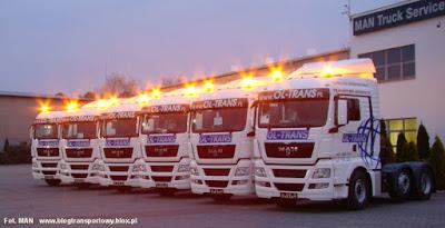 Sześć nowych ciągników siodłowych MAN TGX dla firmy OL-TRANS