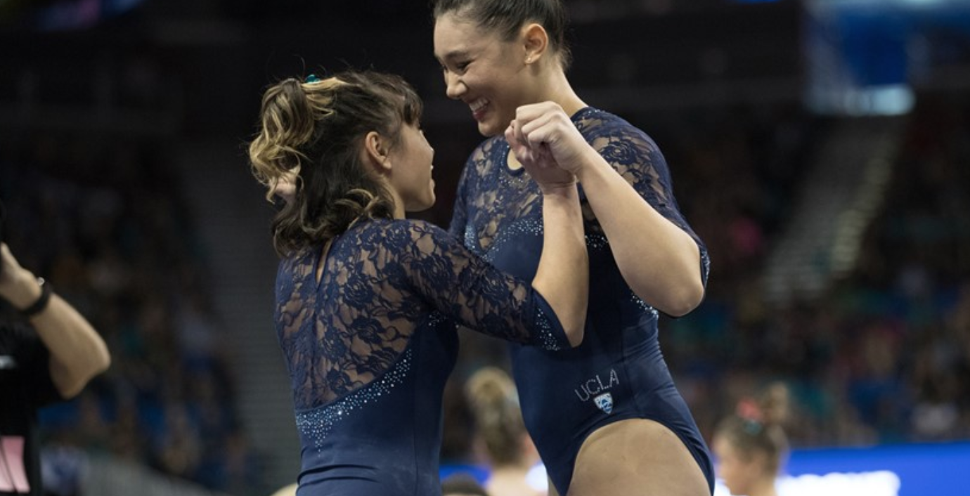 Asian American duo score Perfect 10s to lead UCLA to college gymnastics  title