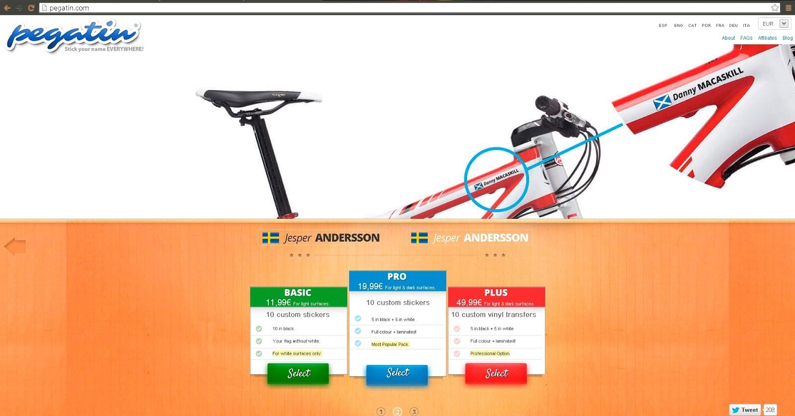 namn klistermärken cykel